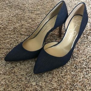 Jessica Simpson denim pumps
